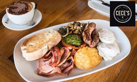 Breakfast with Coffee for One ($12), Two ($22) or Four People ($42) at Cece's Italian Cafe (Up to $97.20 Value)