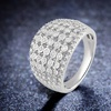 1/2 CTTW Diamond Seven Row Ring in Sterling Silver by DiamondMuse