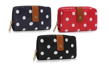 1 ou 2 portefeuille à pois zippé, coloris au choix dès 12,90€