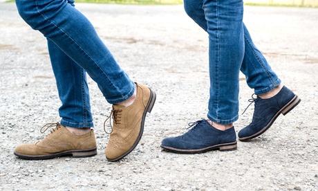 Zapatos brogue impermeables para hombre