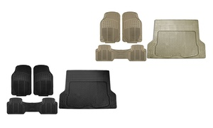 Vinyl Auto Floor Mats with Trimmable Rear Mat (4-Piece)