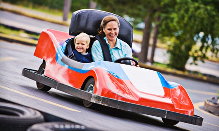 The Go-Kart Track - White Marsh: Go-Karts with Optional Rounds of Mini Golf at The Go-Kart Track in White Marsh (Up to 64% Off). Four Options Available.