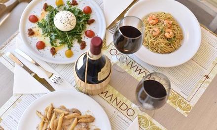 Menú italiano para 2 o 4 personas con entrante, principal, postre y bebida desde 19,99 € en Pizzería D´Armando