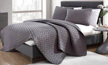Embossed Quilt Sets - Multiple Colors Available (2- or 3-Piece)