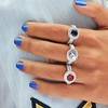 Cubic Zirconia 7.50 CTTW Round Cut Halo Ring by Elements Of Love