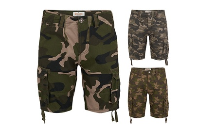 Stallion Army Camouflage Cargo Shorts in Choice of Colour and Size