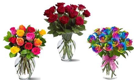 £19.99 for £34.99 to Spend on Valentine's Day Gifts Including a Dozen Roses from Flowers Delivery 4 U (43% Off)