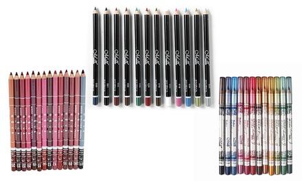12-Piece Eye or Lip Pencil Sets