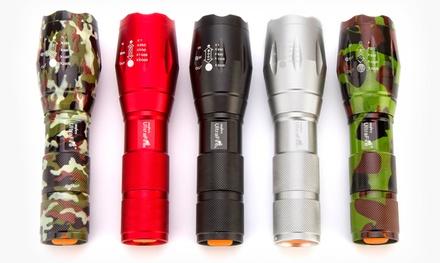 1 ou 2 lampes de poche militaire avec zoom 5x et support pour bicyclette en option