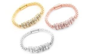 (Bijou)  Bracelet orné de cristaux Swarovski® -86% réduction