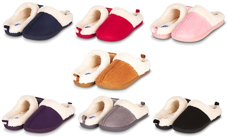 Floopi Women's Indoor Outdoor Fur Lined Clog Slippers with Memory Foam