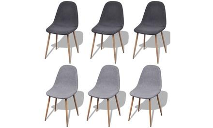 Lot de 2, 4 ou 6 chaises scandinaves, coloris au choix