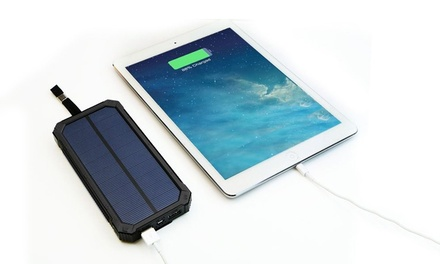 $29 for a 20000mAh Solar-Powered Power Bank with a Dual USB Port in Choice of Colour