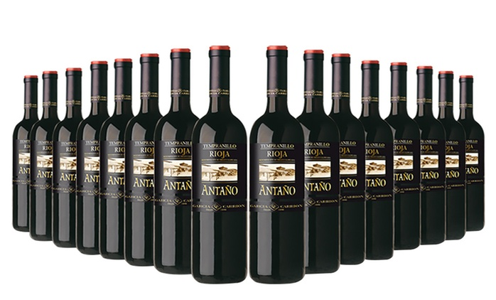16 Bottles Antaño Rioja Red Wine for £59.99 With Free Delivery (64% Off)