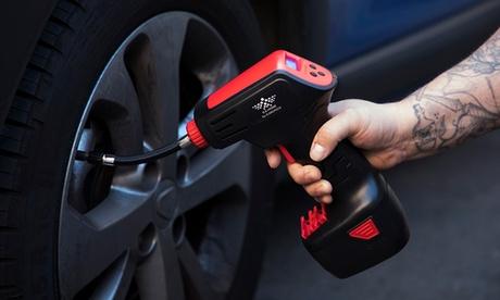 Compresor de aire 4 en 1 con accesorios para neumáticos de coche y bicicleta, colchones inflables y balones deportivos