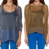 Women's Relaxed Knitted Mesh Top