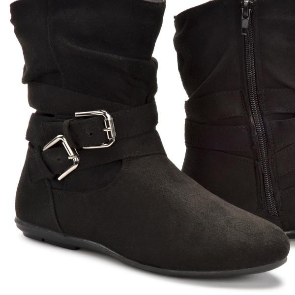227755167 Olive Street Jones Women's Buckle Booties (Sizes 7 & 9) | Groupon