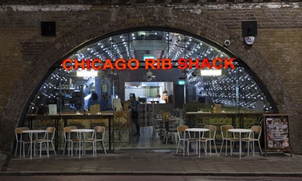 Two or ThreeCourse Meal with Fries at Chicago Rib Shack, Three Locations