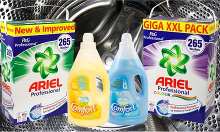 150 Home Washes (£9.98) or up to 530 Ariel Actilift Giga XXL P&G Professional Regular or Colour Washes (from £24.98)