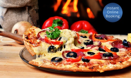 Pizza or Pasta $26 or Italian Feast + Glass $39 or Bottle of Wine $49 for Two People at Manly Pizza & Wine