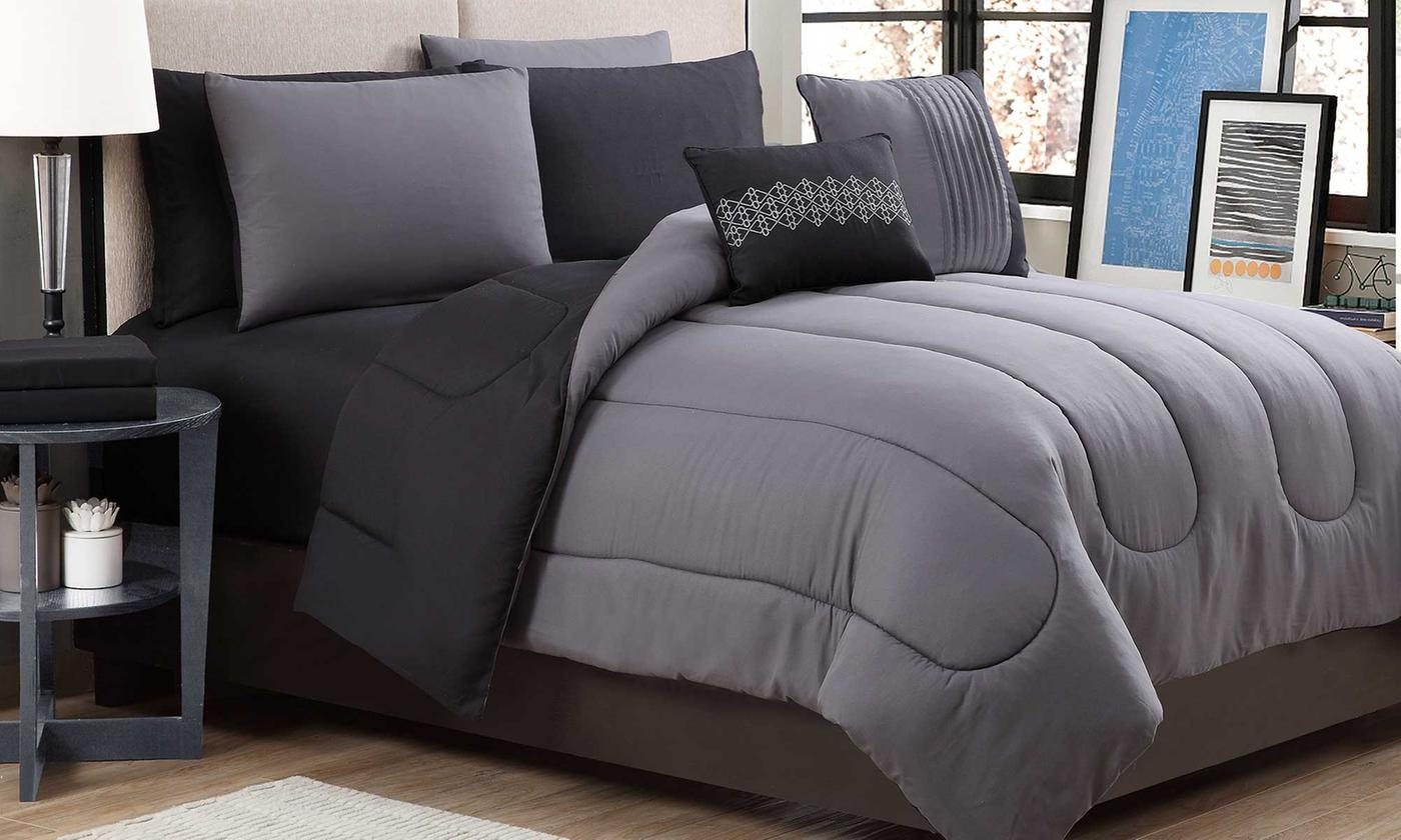 Save 78% on Reversible Lightweight Comforter Set with Sheets (9-Piece)