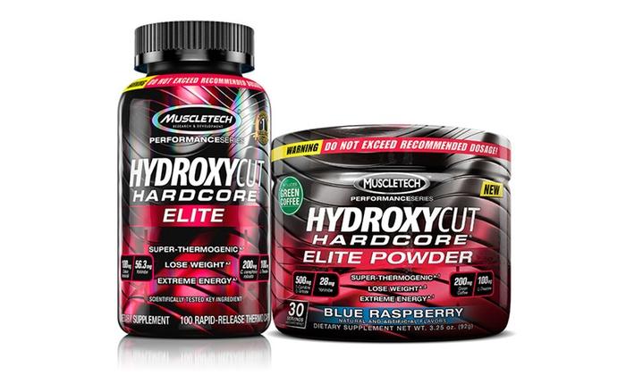 Hydroxycut Hardcore Elite Weight Loss Pill And Powder Bundle