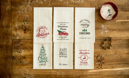 Personalised Christmas Tea Towels: One ($5), Two ($9.50), Four ($18) or Six ($25.50) from Qualtry (Up to $119.94 Value)