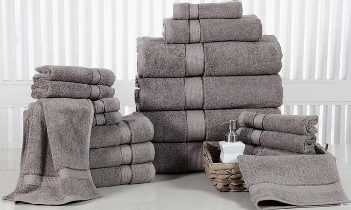 100% Fine-Combed Cotton 600 GSM Towel Set (18-Piece)