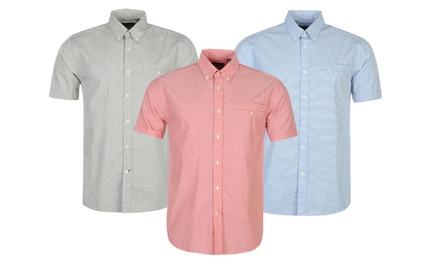 Chemise manches courtes Pierre Cardin 100% coton pour hommes