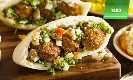 עולם האוכל בחיפה: פיתה עם פלאפל או עם חביתה + צלחת ציפס, ב 10 ₪ בלבד. תקף גם בשישי