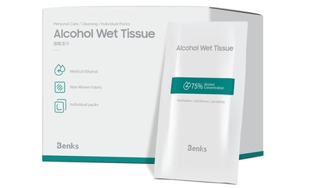 Small and Portable 75% Alcohol Wipes (50-Count)