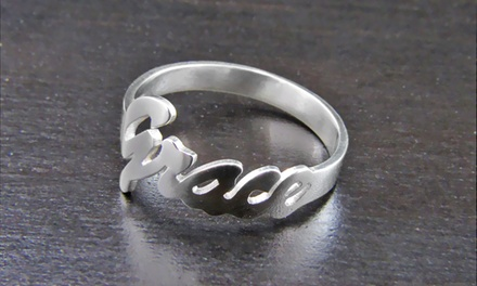 $32.99 for a Personalized Silver Name Ring from NameJewelrySpot ($119.99 Value)