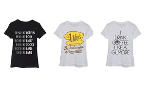 Women's Gilmore Girls T-Shirts at Women's Gilmore Girls T-Shirts, plus 6.0% Cash Back from Ebates.