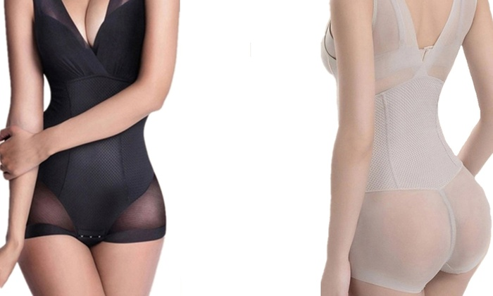 Breathable Slimming Compression Shapewear Bodysuit for £9.98