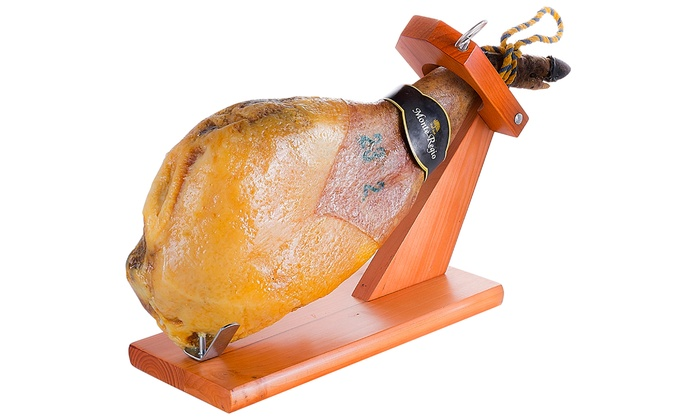 Serrano or Iberico Ham Shoulder with Optional Ham Support, Knife and Olive Oil