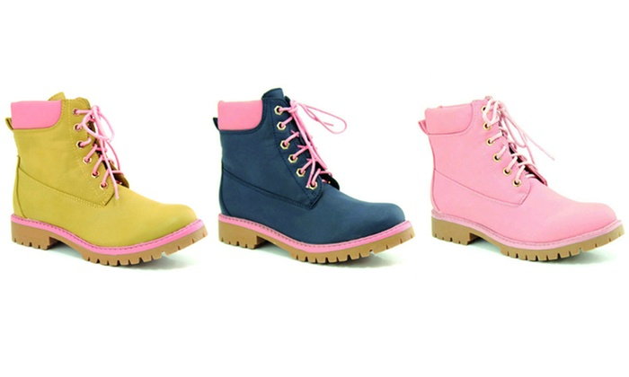 Mata Shoes Women's Lined Lace-Up Boots | Groupon