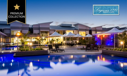 1770, Queensland: 3 or 5 Nights for Two or Four People with Breakfast and Sparkling Wine at Lagoons 1770 Resort & Spa