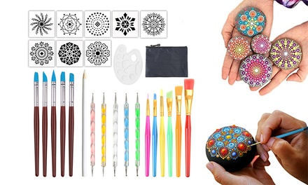 27-Piece Mandala Dotting Tools for Painting Rocks: One Set ($24) or Two Sets ($39)