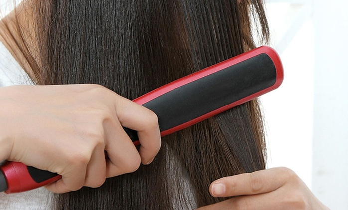 LKE 2-in-1 Straightening and Curling Ceramic Brush (Shipping Included)
