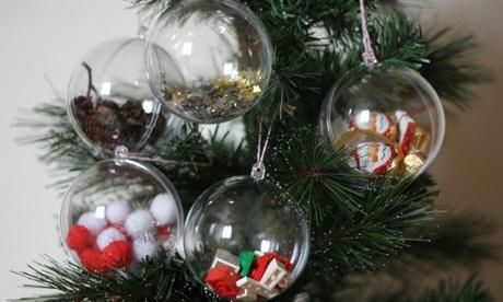 Hasta 15 bolas de navidad rellenas decorativas para el árbol