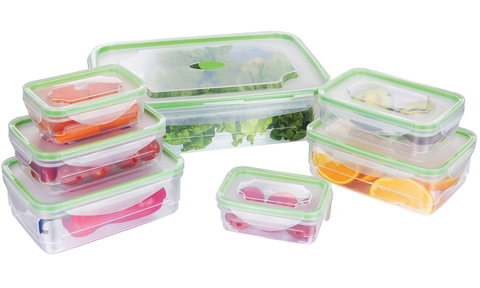 Food Storage Container Set With Locking Seal Lids (14  Or 28 Piece)
