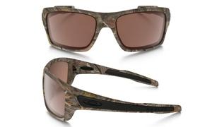 Oakley Turbine Sunglasses with Camo Frame and Black Iridium Lenses