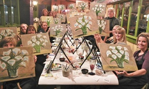 Wine and Canvas : Painting Fun for One or Two at Wine and Canvas Hawaii (Up to 39% Off)