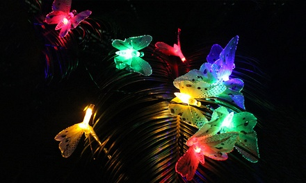 LED Butterfly Outdoor Solar String Lights: One $15, Two $29 or Three $39.95