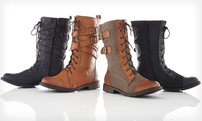 Groove Combat Boots: Groove Women's Combat Boots ($70 List Price). 20 Options Available. Free Shipping and Free Returns.