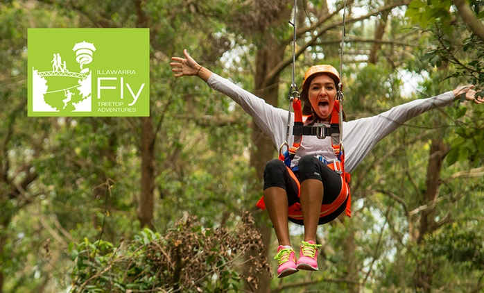 Illawarra Fly : Zipline Experience + Meal - Child ($45) or Adult ($60), Knights Hill (up to $91.50 value)