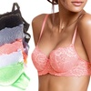 Women's Full-Lace Floral Bras (6-Pack)