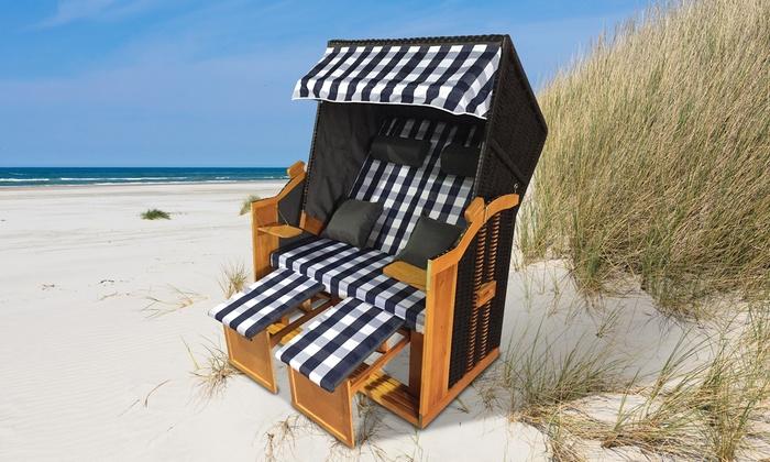 home it polyrattan strandkorb ostsee xl und xxl groupon. Black Bedroom Furniture Sets. Home Design Ideas