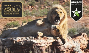 Aquila Private Game Reserve: Day Trip Safari Including Buffet Lunch and a Game Drive from R650 for One at Aquila Private Game Reserve (50% Off)