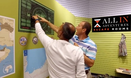 Escape Room Admission for Two, Four, or Eight People at All In Adventures (Up to 30% Off)